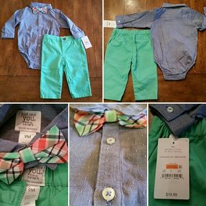 Carter's 3-piece NWT button shirt, bow tie, pants